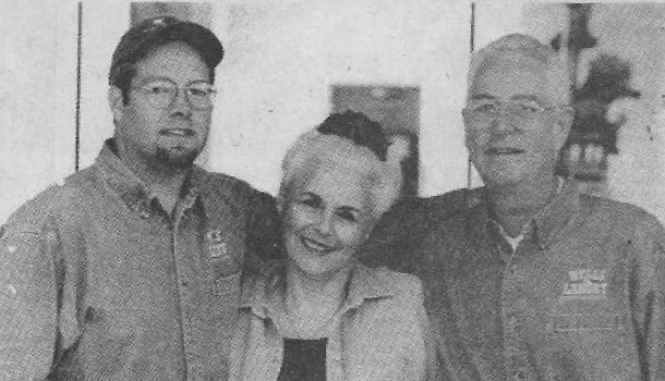 Old black and white image of La Mar family members