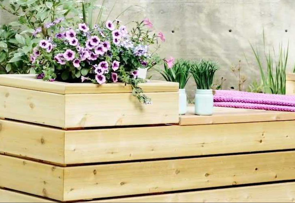 Building a Planter Bench with Storage